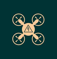 drone quadrocopter icon vector image vector image