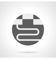 Gray round flat icon for warm floor vector