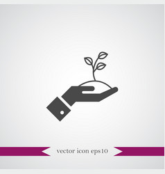 growing start up icon simple vector image