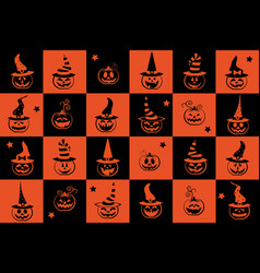 Halloween seamless pattern wrapping paper for vector