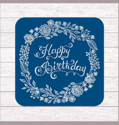 Hand drawn greeting card design happy vector