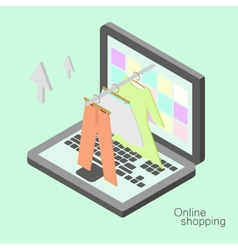 Isometric online shopping vector image vector image