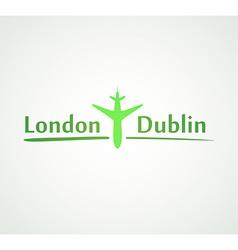London - dublin vector