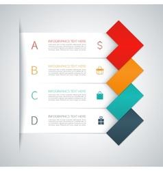 Modern arrow infographics elements vector image vector image