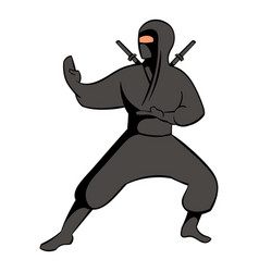 ninja icon icon cartoon vector image