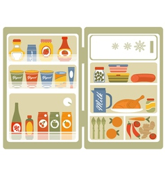 Open fridge 2 vector
