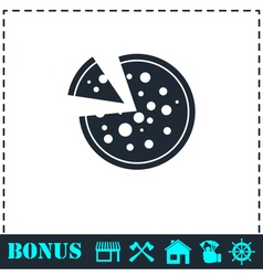 Pizza icon icon flat vector image vector image