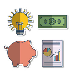 profit and money design vector image