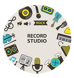 Record studio emblem vector