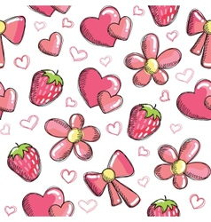 romantic pattern vector image