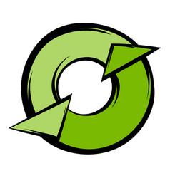round recycle icon cartoon vector image vector image