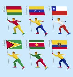 Set of simple flat athletes vector