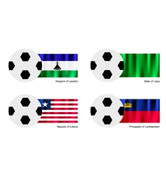 Soccer Ball of Lesotho Libya Liberia and Liech vector image vector image
