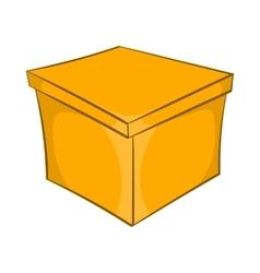 Square box icon cartoon style vector