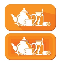 Tea objects vector image