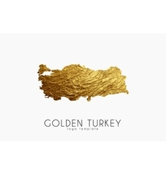 Turkey map Golden Turkey logo Creative Turkey vector image