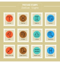 Zodiac signs icons for horoscopes predictions vector