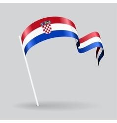 Croatian wavy flag vector image