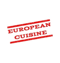 European cuisine watermark stamp vector