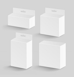White blank cardboard rectangle  realistic vector