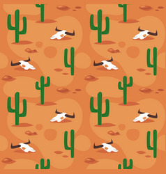Seamless pattern with desert surface vector