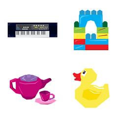 Set of geometric toys vector