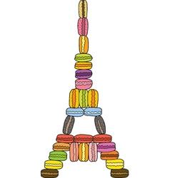 Eiffel Macaron Tower vector image
