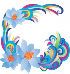 blue flowers vector image