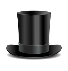 Cylinder black gentleman hat vector