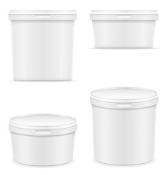 Plastic container for ice cream or dessert 05 vector