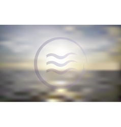 Ocean sunset blur background vector