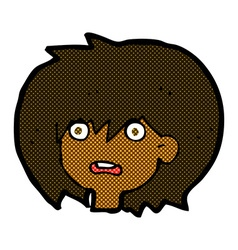 Comic cartoon shocked expression vector