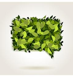 green bubble speech vector image