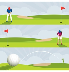Golf golf course banner vector