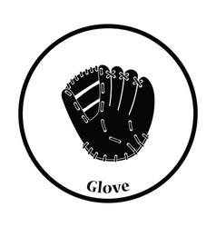 Baseball glove icon vector image vector image