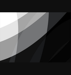 black and white wave abstract background vector image vector image