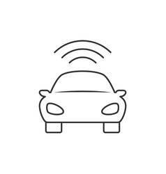 Car line icon vector
