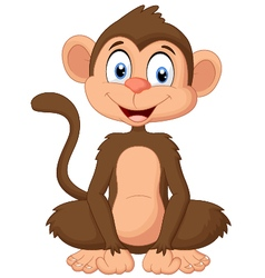 Cartoon monkey sitting vector
