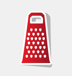 Cheese grater sign new year reddish icon vector