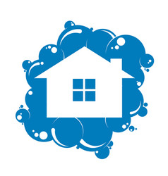 cleaning the house symbol vector image vector image