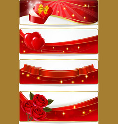 collection of colorful of valentine banners vector image vector image