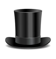 Cylinder black gentleman hat vector image