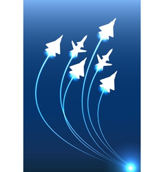 Flying jets group vector image vector image
