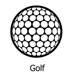 golf ball icon simple black style vector image vector image