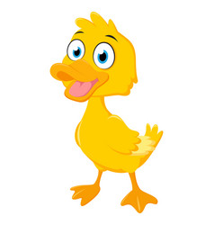 happy duck cartoon vector image vector image