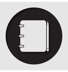 information icon - notepad with pencil vector image