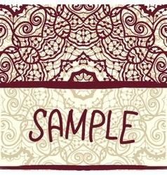 Invitation card design in retro style Oriental vector image