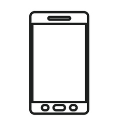 Isolated and silhouette smartphone design vector image