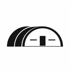 Large hangar icon simple style vector