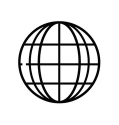 Line global earth planet to exploration ubication vector